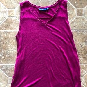 Sleeveless Camisole Shirt w/Corset style accents